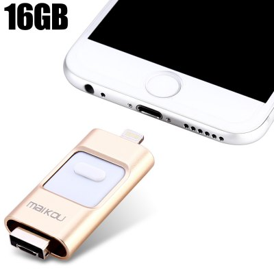 Maikou MK-258 3 in 1 Retractable 16GB USB 2.0 Flash Drive