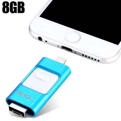 Maikou MK-258 3 in 1 Retractable 8GB USB 2.0 Flash Drive