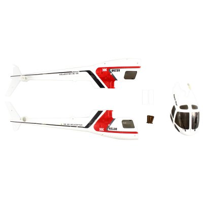 Spare Canopy + 2 x Tail Body Shell Set for XK K123 RC Helicopter