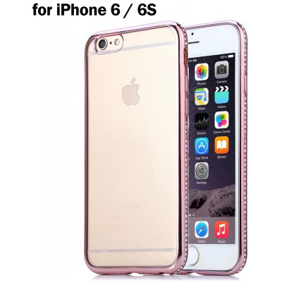TPU Plated Margin Design Protective Back Case for iPhone 6 / 6S