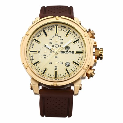 SKONE 3917 Working Sub-dials Men Quartz Watch