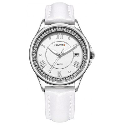 COMTEX SYL140063 Women Shell Face Quartz Watch