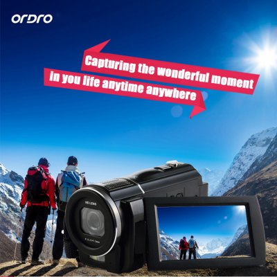 Ordro HDV - F5 3 inch Touch Screen 24MP Full HD Digital Video Camera Camcorder DV