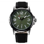 LONGBO 4111 Simple Elegant Quartz Watch for Men Date Display Genuine Leather Strap Mineral Glass