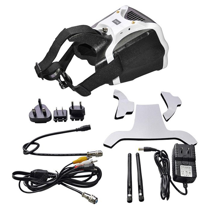 SKYZONE SJ - V01 5.8G 40CH 7 inch 1280 x 800 FPV Goggle Headset Video Glass with HDMI Input for RC Hobby 178313201