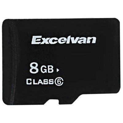 Excelvan 8GB Class 6 High Quality Fast Micro SD/SDHC Memory Card with Free SD Adapter