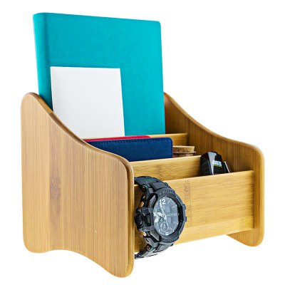 Multi-functional Bamboo Storage Box Table Decors