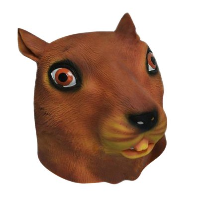 Magical Squirrel Head Latex Rubber Mask Gift for Adult Costume Party