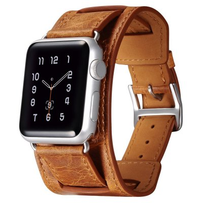 Retro Style Leather Watchband for Apple Watch 42mm