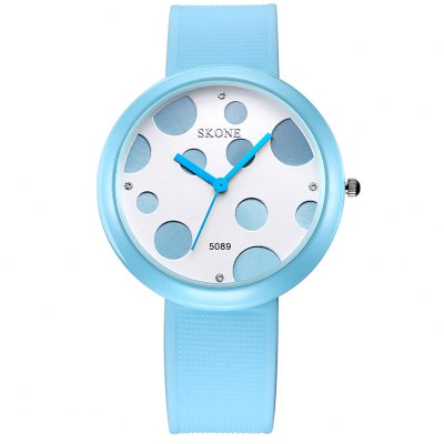 SKONE 3926 Dot Bezel Women Quartz Watch