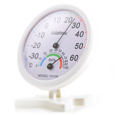Perfect Mini Indoor and Outdoor Centigrade Thermo-Hygrometer with Dual Scales (White)