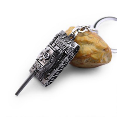 6cm Alloy Tank Shape Key Ring