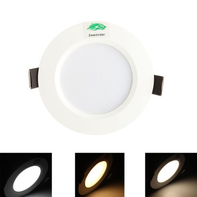 Zweihnder 3W 12 x SMD 5730 280LM Intelligent Dimming LED Panel Light