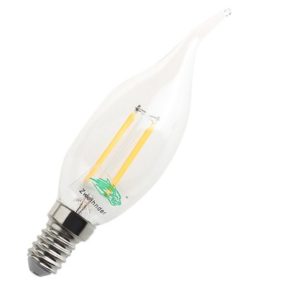 Zweihnder E14 4W 400Lm LED Candle Light Bent Tip
