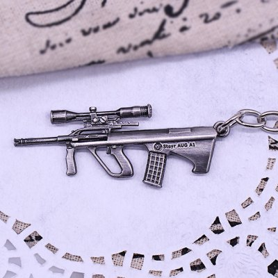 Keyring Weapon Model Pendant Decoration Rifle Metal Key Chain