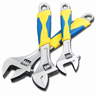 SJ Adjustable WrenchesWrenches<br>SJ Adjustable Wrenches<br><br>Special function: Repairing / Dismounting<br>Optional Color: Silver<br>Product weight: 0.080 kg<br>Package weight: 0.694 kg<br>Product size (L x W x H): 15.00 x 3.00 x 1.50 cm / 5.91 x 1.18 x 0.59 inches<br>Package size (L x W x H): 31.00 x 7.00 x 3.00 cm / 12.2 x 2.76 x 1.18 inches<br>Package Contents: 1 x SJ Multi-functional Adjustable Spanner 6 inch Rust-proof Repairing Tool