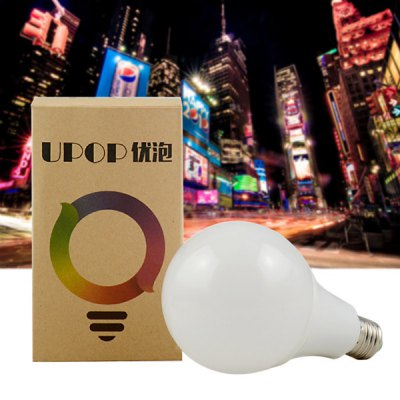 UPOP U1 Smart Bluetooth RGBW Dimmable LED BulbSmart Lighting<br>UPOP U1 Smart Bluetooth RGBW Dimmable LED Bulb<br><br>Brand: UPOP<br>Holder: E26/E27<br>Output Power: 5W<br>Voltage (V): AC 110-240<br>Total Emitters: 6 x white, 4 x RGB<br>Luminous Flux: 330LM<br>Available Light Color: RGBW<br>Features: APP Control,Bluetooth 4.0,Dimming,Easy to use,Energy Saving,Long Life Expectancy,Sound-Activated,Timer<br>Function: Commercial Lighting,Home Lighting,Studio and Exhibition Lighting<br>Body Color: White<br>Lifespan: 3000h<br>Product weight: 0.102 kg<br>Package weight: 0.172 kg<br>Product size (L x W x H): 16.00 x 9.50 x 9.50 cm / 6.3 x 3.74 x 3.74 inches<br>Package size (L x W x H): 17.00 x 10.50 x 10.50 cm / 6.69 x 4.13 x 4.13 inches<br>Package Contents: 1 x UPOP LED Bulb