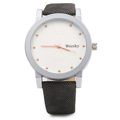 Weesky 1281 Casual Style Frosted Surface Men Quartz Watch