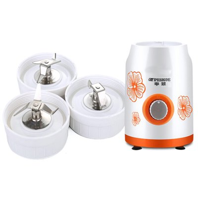 JJ16023 Meat Grinder / Babycook / Food ProcessorKitchen Appliances<br>JJ16023 Meat Grinder / Babycook / Food Processor<br><br>Color: Green,Orange<br>Material: ABS, Electronic Components<br>Model: JJ16023<br>Package Contents: 1 x Host, 1 x Grind Cup, 1 x Juice Cup, 1 x Meat Cup<br>Package size (L x W x H): 40.00 x 24.00 x 35.00 cm / 15.75 x 9.45 x 13.78 inches<br>Package weight: 2.530 kg<br>Product size (L x W x H): 38.00 x 21.00 x 32.50 cm / 14.96 x 8.27 x 12.8 inches<br>Product weight: 1.800 kg<br>Voltage (V): 220V