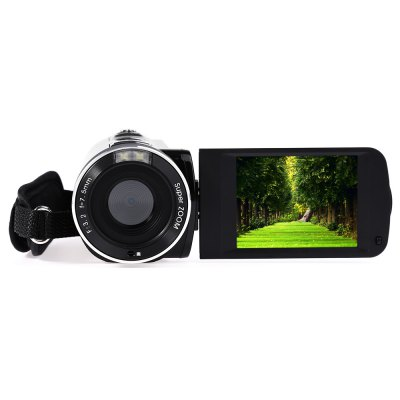 AMKOV DV161 24MP 18X Digital Zoom Camera DVCamcorders<br>AMKOV DV161 24MP 18X Digital Zoom Camera DV<br><br>Aperture: F/3.2, f=7.5mm<br>Auto power off: Yes<br>Battery Capacity (mAh?: 1000mAh<br>Brand: Amkov<br>Charging Time: 2H<br>Digital zoom: 18X<br>Exposure Compensation: -3.0~3.0<br>External memory storage(Maximum, not included): SD card up to 32GB<br>File format: JPEG, AVI<br>Focus Range: 1.0m - infinity<br>FOV: 270 Degree<br>Frequency: 50Hz,60Hz<br>Function mode: Video, Capture<br>Image resolutions: 5600 x 4200 (24MP), 5200 x 3900 (20MP), 1920 x 1080 (2MP HD), 2048 x 1536 (3MP), 2592 x 1944 (5MP), 3264 x 2448 (8MP), 4000 x 3000 (12MP)<br>Interface: Mini USB interface, SD Card Slot<br>ISO: 100,200,400,Auto<br>Language: English,French,German,Japanese,Portuguese,Russian,Simplified Chinese,Spanish,Traditional Chinese<br>LED light: LED, less than 1.0M, on / off<br>Loudspeaker: Built-in<br>Memory support : SD card<br>Microphone: Built-in<br>Other Functions: DIS intelligent anti-shake, AV out, Face Detection, Continuous mode<br>Package Contents: 1 x Digital Camera (No Battery Inside), 1 x Power Adapter (AC 100 - 240V), 1 x USB Cable (80cm Approx.), 1 x AV Cable (95cm Approx.), 1 x Storage Bag, 1 x Battery, 1 x Lens Cap, 1 x Disc, 1 x English<br>Package size (L x W x H): 19.50 x 16.00 x 12.00 cm / 7.68 x 6.3 x 4.72 inches<br>Package weight: 0.621 kg<br>Pixel: 2400W<br>Power Sources: 3.7V 1000mAh li - ion battery<br>Product size (L x W x H): 12.00 x 5.00 x 5.00 cm / 4.72 x 1.97 x 1.97 inches<br>Product weight: 0.266 kg<br>Scenes: Auto,Backlight,Beach,High sensivity,Landscape,Night,Party,Portrait,Scenery,Sport<br>Screen size: 2.7inch<br>Screen size (inch): 2.7<br>Self-timer: 10s,2s,5s,OFF<br>Sensor: CMOS<br>Standby time: 7 days<br>Storage medium: Flash memory DV<br>Touch screen: No<br>TV System: NTSC, PAL<br>Video Frame Rate: 10fps<br>Video Resolution: 1280 x 720,1920 x 1080,640 x 480<br>White Balance: Automatic,Cloudy,Daylight,Florescent light,Tungsten light<br>Working 
