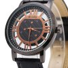 best Weesky 1314 Transparent Dial Watch Men Quartz Wristwatch