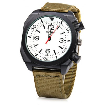 Weesky Casual Style Men Quartz Watch with Big Decorative Crown