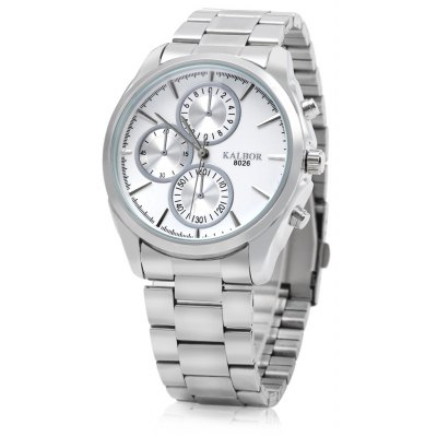 KALBOR 8026 Stainless Steel Band Male Quartz Watch