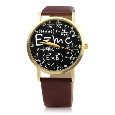 460 Physics Formula Pattern Face Women Quartz WatchWomens Watches<br>460 Physics Formula Pattern Face Women Quartz Watch<br><br>Watches categories: Female table<br>Watch style: Casual<br>Watch color: Black, Brown, White, Leopard<br>Movement type: Quartz watch<br>Shape of the dial: Round<br>Display type: Analog<br>Case material: Alloy<br>Band material: Leather<br>Clasp type: Pin buckle<br>Dial size: 3.8 x 3.8 x 0.8 cm / 1.5 x 1.5 x 0.31 inches<br>Band size: 24 x 2 cm / 9.45 x 0.79 inches<br>Wearable length: 18.5 - 22 cm / 7.28 - 8.66 inches<br>Product weight: 0.024 kg<br>Package weight: 0.058 kg<br>Product size (L x W x H): 24.00 x 3.80 x 0.80 cm / 9.45 x 1.5 x 0.31 inches<br>Package size (L x W x H): 25.00 x 4.80 x 1.80 cm / 9.84 x 1.89 x 0.71 inches<br>Package Contents: 1 x 460 Casual Style Women Quartz Watch