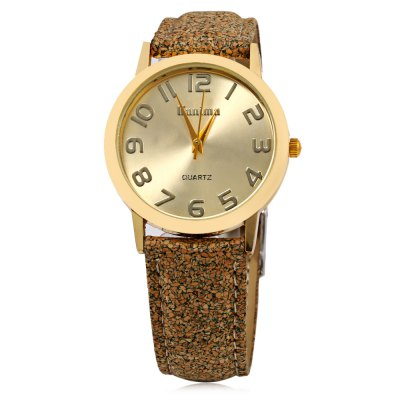 Kanima Casual Style Cereal Skin Pattern Strap Lady Quartz Watch