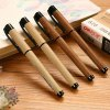 cheap 12PCS Deli S28 0.5mm Wooden Style Gel Ink Roller Ball Pens