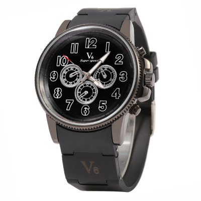 V6 Super Speed 0271 Business Style Men LED Quartz Watch