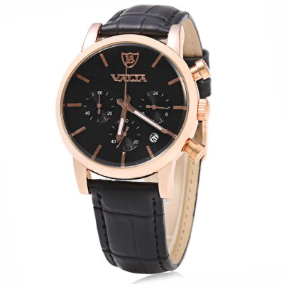 VALIA Business Style Gold Case Men Quartz Watch