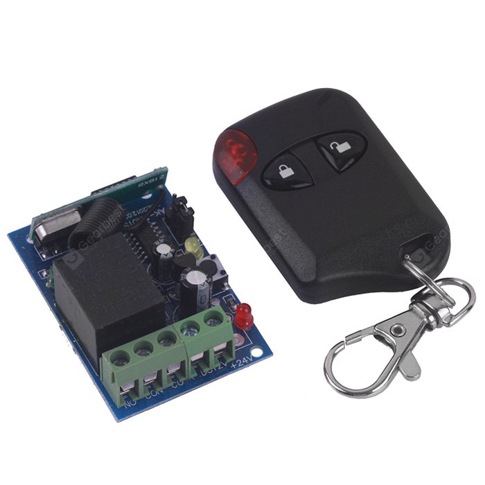 High Security One Channel DC12V Wireless Remote Control Switch - Unlock / Lock Keys 102260001