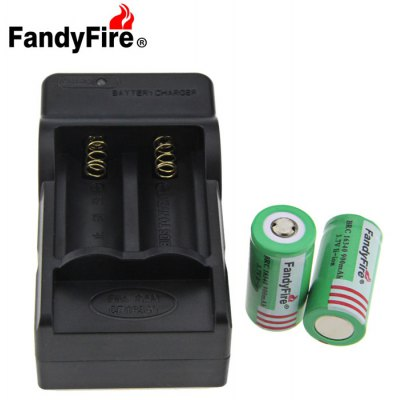 FandyFire AC16 16340 Li-ion Battery Charger Pack