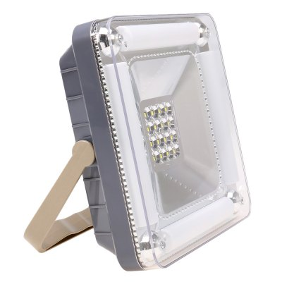 Rechargeable 16 + 4 LED Solar Floodight Outdoor LightingOutdoor Lights<br>Rechargeable 16 + 4 LED Solar Floodight Outdoor Lighting<br><br>Powered source: Solar and Battery<br>Light Type: Indoor Light,Outdoor Light,Solar Light<br>Light Color: White<br>Features: Rechargeable<br>Total LED: 16 + 4<br>Solar Panel : 1W<br>Battery Voltage: 3.7V<br>Battery Capacity: 2200mAh<br>Charging time: 8h<br>Material: ABS,Aluminum<br>Product weight: 0.530 kg<br>Package weight: 0.600 kg<br>Product size (L x W x H): 18.50 x 18.00 x 6.00 cm / 7.28 x 7.09 x 2.36 inches<br>Package size (L x W x H): 19.50 x 19.00 x 7.00 cm / 7.68 x 7.48 x 2.76 inches<br>Package Contents: 1 x Solar LED Flood Light, 1 x AC Cable, 1 x USB Cable