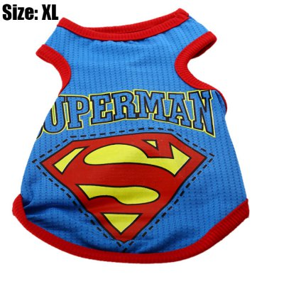 Super Hero Pattern Pet Vest Clothes