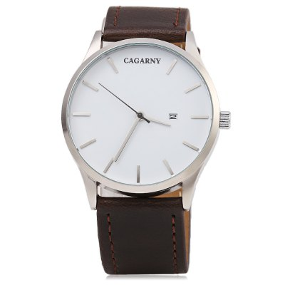 CAGARNY 6850 Business Style Men Quartz WatchMens Watches<br>CAGARNY 6850 Business Style Men Quartz Watch<br><br>Brand: Cagarny<br>Watches categories: Male table<br>Watch style: Business<br>Watch color: Black, Coffee, Black + Silver, Brown + Silver, Coffee + Silver<br>Movement type: Quartz watch<br>Shape of the dial: Round<br>Display type: Analog<br>Case material: Stainless Steel<br>Band material: Leather<br>Clasp type: Pin buckle<br>Special features: Date<br>Water resistance : Life water resistant<br>Dial size: 4.5 x 4.5 x 1 cm / 1.77 x 1.77 x 0.39 inches<br>Band size: 26.5 x 2.4 cm / 10.43 x 0.94 inches<br>Wearable length: 19.5 - 24.5 cm / 7.68 - 9.65 inches<br>Product weight: 0.047 kg<br>Package weight: 0.087 kg<br>Product size (L x W x H): 26.50 x 4.50 x 1.00 cm / 10.43 x 1.77 x 0.39 inches<br>Package size (L x W x H): 27.50 x 5.50 x 2.00 cm / 10.83 x 2.17 x 0.79 inches<br>Package Contents: 1 x CAGARNY 6850 Business Style Men Quartz Watch