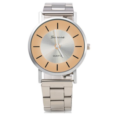 GENEVA 458 Business Style Steel Strap Lady Quartz WatchWomens Watches<br>GENEVA 458 Business Style Steel Strap Lady Quartz Watch<br><br>Brand: Geneva<br>Watches categories: Female table<br>Watch style: Business<br>Available color: Black,Green,Pink,Red,White,Yellow<br>Movement type: Quartz watch<br>Shape of the dial: Round<br>Display type: Analog<br>Case material: Stainless Steel<br>Band material: Steel<br>Clasp type: Folding clasp with safety<br>Dial size: 3.8 x 3.8 x 0.8 cm / 1.5 x 1.5 x 0.31 inches<br>Band size: 20 x 1.8 cm / 7.87 x 0.71 inches<br>Product weight: 0.059 kg<br>Package weight: 0.092 kg<br>Product size (L x W x H): 20.00 x 3.80 x 0.80 cm / 7.87 x 1.5 x 0.31 inches<br>Package size (L x W x H): 21.00 x 4.80 x 1.80 cm / 8.27 x 1.89 x 0.71 inches<br>Package Contents: 1 x GENEVA 458 Business Style Lady Quartz Watch