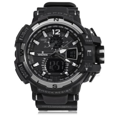 HENGZHENG HZ490 3ATM Men LED Sports WatchLED Watches<br>HENGZHENG HZ490 3ATM Men LED Sports Watch<br><br>People: Male table<br>Watch style: Casual,Fashion,LED<br>Available color: Black,Blue,Gold,Red,Silver<br>Movement type: Quartz watch<br>Shape of the dial: Round<br>Display type: Analog<br>Hour formats: 12 Hour<br>Case material: Alloy<br>Band material: Rubber<br>Clasp type: Pin buckle<br>Special features: Alarm Clock,Date,Day,Stopwatch<br>Water resistance : 30 meters<br>Dial size: 5.3 x 5.3 x 1.5 cm / 2.09 x 2.09 x 0.59 inches<br>Band size: 24.5 x 2.5 cm / 9.65 x 0.98 inches<br>Wearable length: 15 - 22 cm / 5.9 - 8.66 inches<br>Product weight: 0.056 kg<br>Package weight: 0.095 kg<br>Product size (L x W x H): 24.50 x 5.30 x 1.50 cm / 9.65 x 2.09 x 0.59 inches<br>Package size (L x W x H): 25.50 x 6.30 x 2.50 cm / 10.04 x 2.48 x 0.98 inches<br>Package Contents: 1 x LED Sports Watch