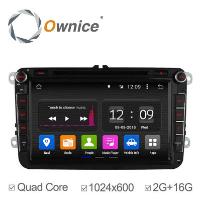 Ownice C180 - OL - 8992B Android 4.4.2 8.0 inch Car GPS DVD Multi-media Player for VW Volkswagen