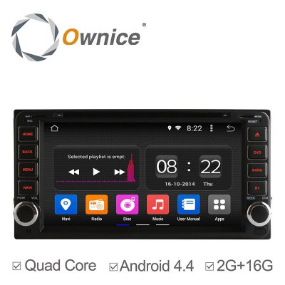 Ownice C180 - OL - 7699B Android 4.4.2 6.95 inch Car GPS DVD Multi-media Player for Toyota