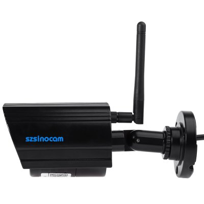 Szsinocam SN - IPC - 4036SW WiFi Security IP Camera 720P 1.0MPIP Cameras<br>Szsinocam SN - IPC - 4036SW WiFi Security IP Camera 720P 1.0MP<br><br>Audio Compression Mode: G.711<br>Brand: Sinocam<br>Color: Black<br>DDNS (free): Yes<br>Electronic Shutter: 1 / 25s - 1 / 30,000s<br>FOV: 75 degree<br>Image Adjustment: Brightness,Color saturation,Contrast<br>Infrared Distance: 20m<br>Infrared LED: 36pcs LEDs<br>IP camera performance: Night Vision, Motion Detection<br>Model: SN-IPC-4036SW<br>Network Port: RJ-45<br>Operate Temperature (?): -10 to 55 Celsius degrees<br>Package Contents: 1 x IP Camera, 3 x Screw, 3 x Expansion Bolt, 1 x Power Adapter, 1 x Antenna, 1 x English User Manual<br>Package size (L x W x H): 19.50 x 9.80 x 10.50 cm / 7.68 x 3.86 x 4.13 inches<br>Package weight: 0.5300 kg<br>Pixels: 1MP<br>Product size (L x W x H): 16.30 x 6.50 x 6.50 cm / 6.42 x 2.56 x 2.56 inches<br>Product weight: 0.3120 kg<br>Protocol: DDNS,NTP,PPPOE,SMTP<br>Resolution: 1280 x 720<br>Sensor: CMOS<br>Sensor size (inch): 1/4<br>Shape: Bullet Camera<br>Specification of Power Supply: 12V / 1A<br>Technical Feature: Infrared<br>Video Compression Format: H.264<br>Video format: MJPEG<br>Waterproof: No<br>Wireless: WiFi 802.11 b/g/n<br>Working Humidity (%) RH: 10 - 85 Percent