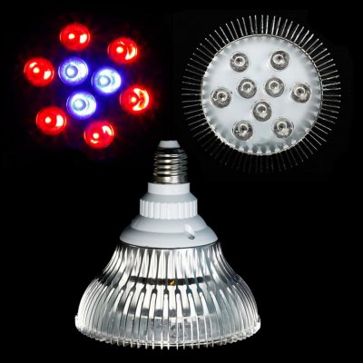 27W E27 6 Red + 3 Blue LED Grow Light for Indoor Plants
