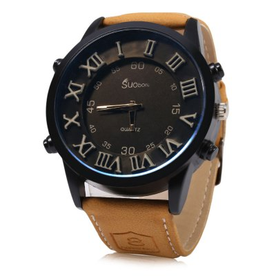 SUOboni A7114 Casual Style Big Stereo Dial Men Quartz Watch
