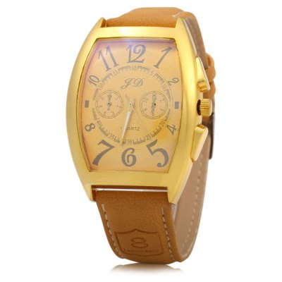 FD 7116 Business Style Men Quartz Watch with Trapezoidal Dial