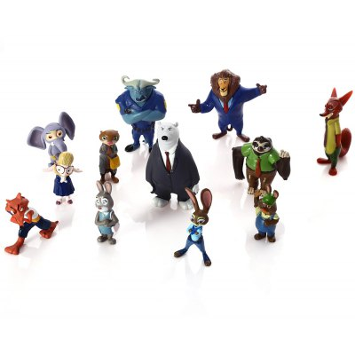 Plastic Static Figure Model Toy - 12Pcs / Set