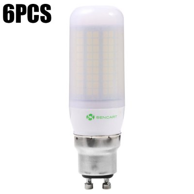 6 x Sencart GU10 15W 1500LM 180 SMD2835 Frosted LED Corn Lamp