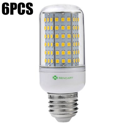 6PCS Sencart E27 14W 1350LM 126 x SMD2835 LED Corn Bulb Lamp