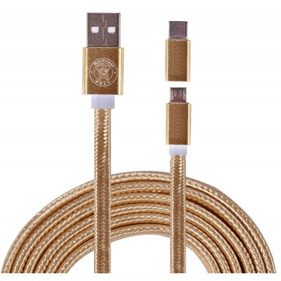 Hat - Prince 2 in 1 1m Micro USB Type-C Data Cable
