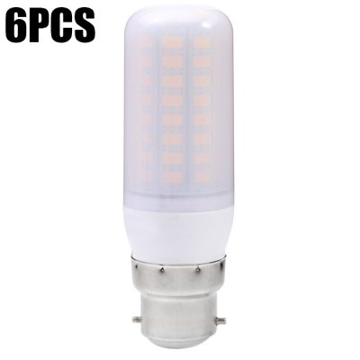 6PCS Sencart B22 72 x SMD5730 12W 1200LM Frosted LED Corn Bulb
